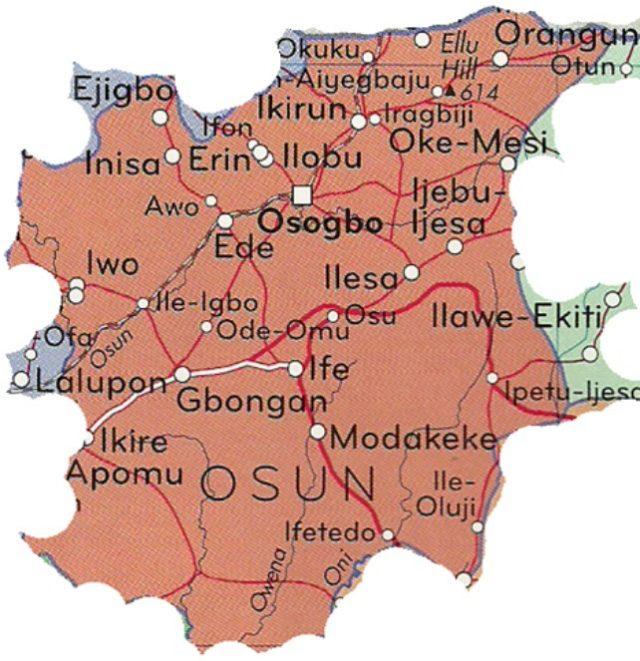 Map of Osun