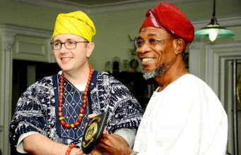 Governor Rauf Aregbesola of Osun State with the Australian High Commissioner...