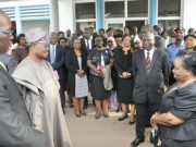 From the left: Attorney General and Commissioner for Justice, Mr Seun Abimbola, Oyo State Governor, Senator Abiola Ajimobi, Chief Judge of Oyo state, Justice Muntar Abimbola and others Judges during the visit..