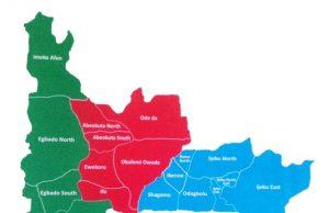 Map of Ogun State