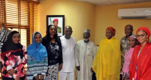 ...during the Kebbi State First Lady's visit to NFF...