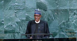 President Muhammadu Buhari, reading his speech on Tuesday...