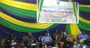 Ibrahim Idris, the IGP, with very senior police officers during the meeting in Abuja...