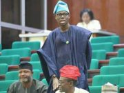 Honourable Adedapo Lam Adesina...on duty inside the House of Representatives in Abuja...