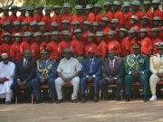 National Security Adviser, NSA, to the president, Major General Mohammed Babagana Monguno (Retd) with others at the EFCC graduation...on Friday...
