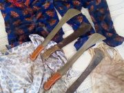 Cutlasses and blood-stained cloths seized from 'Gobe' Group by OPC...