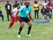 Hon Adedapo Lam-Adesina...during a recent footballing engagement...
