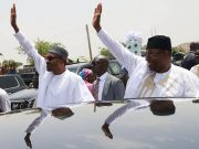President Muhammadu Buhari, right, with Governor Mohammed Abubakar of Bauchi State...