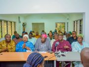 ...the Ambode For Second Term Group with media men...on Sunday...