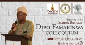 The Dipo Famakinwa event's banner...
