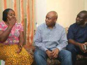L-R: Mrs Sandra Davou, Dr Bukola Saraki and Senator Ike Ekweremadu...